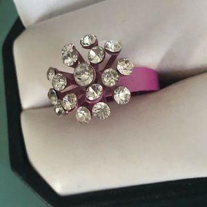 Vintage Pink Enamel Atomic Ring